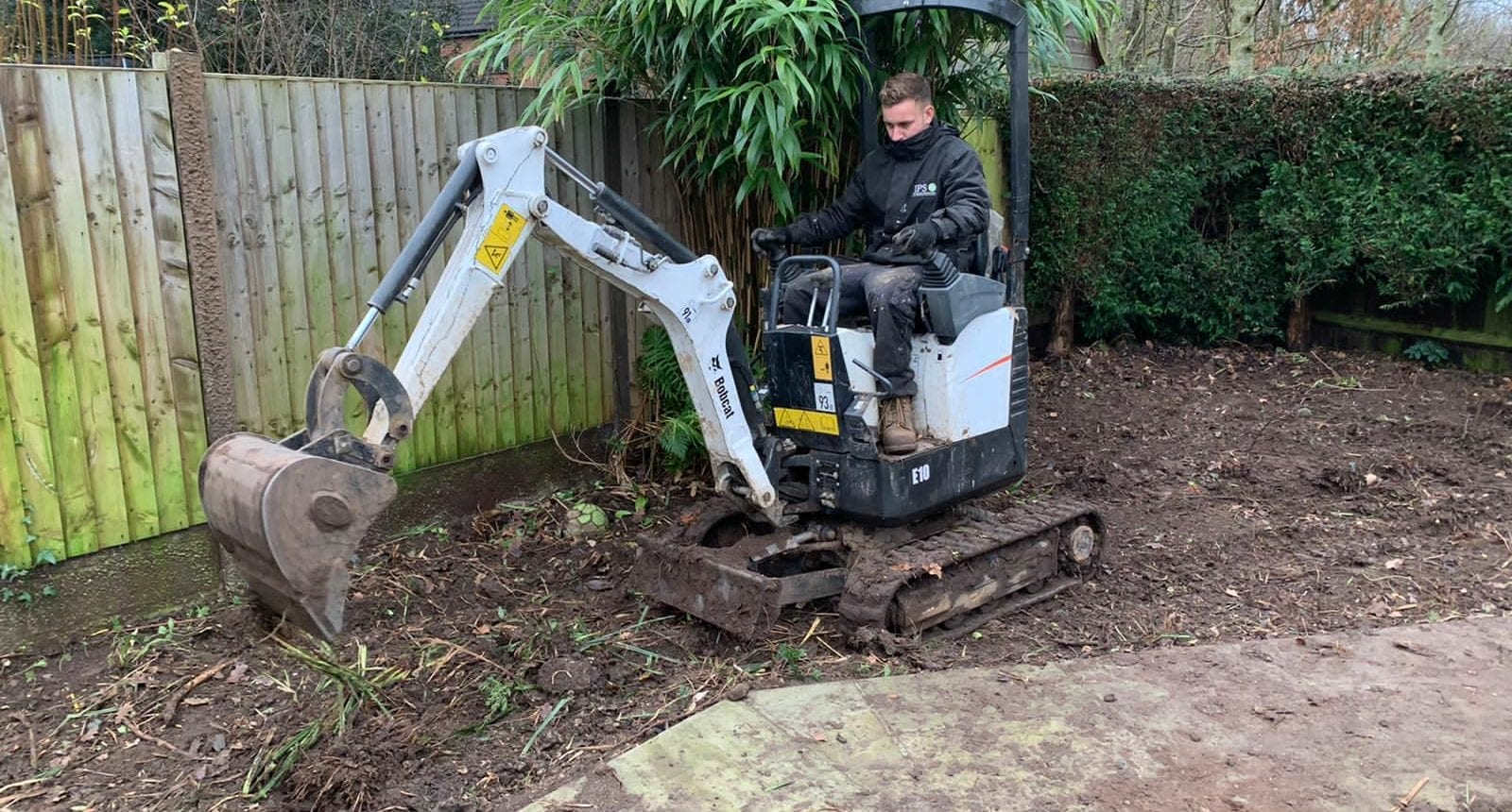 Mini Digger Hire Derby Mini digger clearing Garden